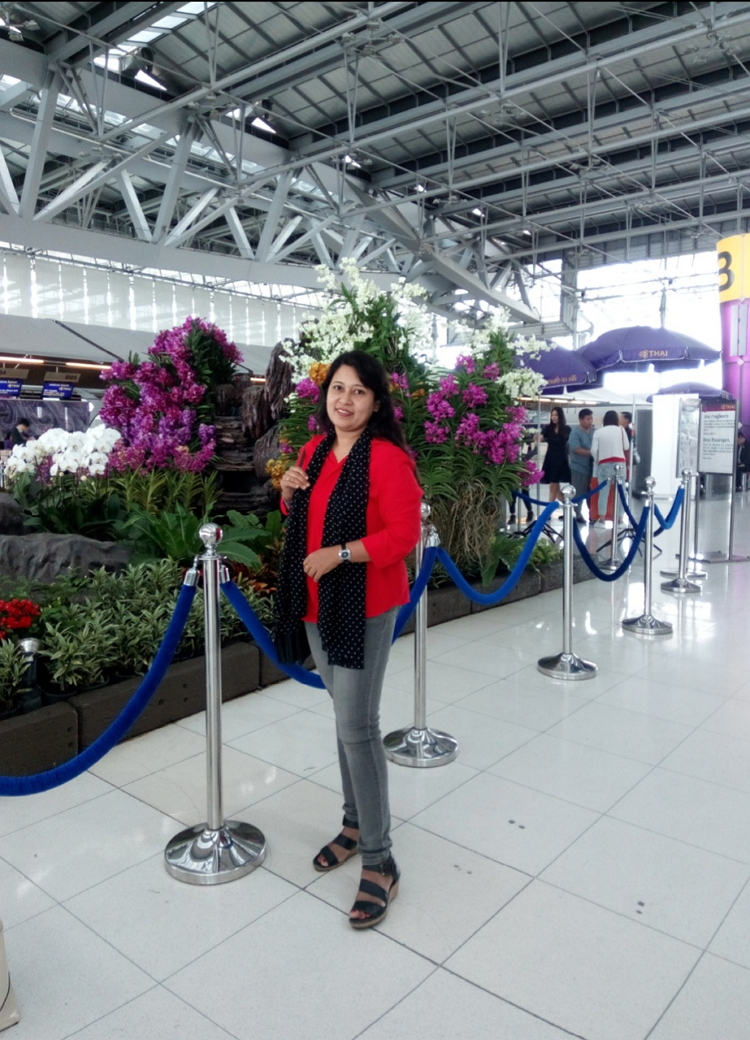 Beautiful moment at Subarnavhumi Airport Bangkok