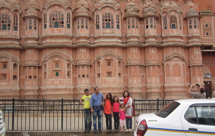 Attraction colour of City Palace Jaipur Rajasthan