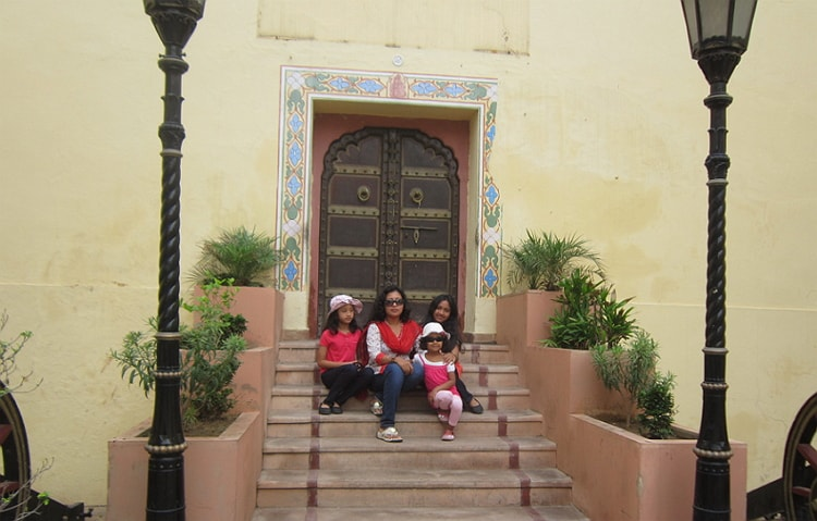 Infront of Museum City Palace Jaipur,Rajasthan