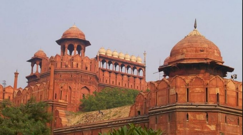Nice Architectural the historic monument Red fort, Delhi