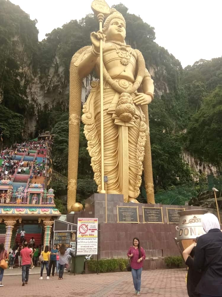 Attraction in famous Batu Caves at Malaysia
