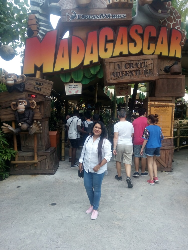 Enjoyed nice place Madagascar at Universal Studios Singapore