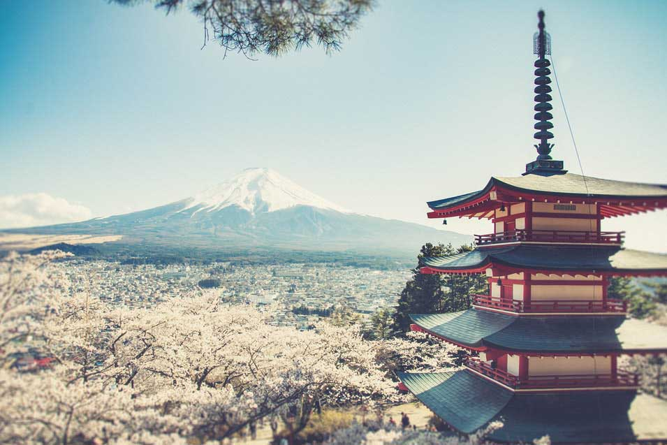Mount Fuji highest mountain in Japan